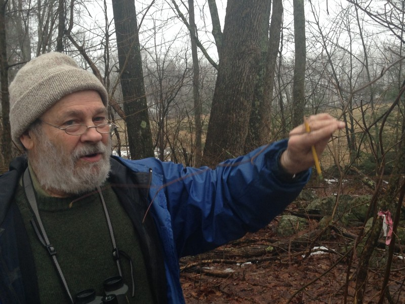 John O'Keefe heads out for his first survey walk of 2018, beginning his 29th year of observations at the Harvard Forest